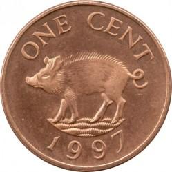 Pièce > 1cent, 1991-1998 - Bermudes  - reverse