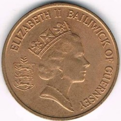 Coin > 1 penny, 1985-1990 - Guernsey  - obverse