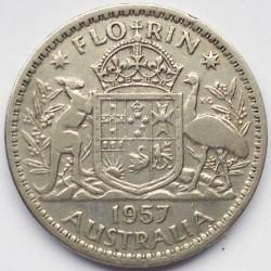 Minca > 2shillings(florin), 1956-1963 - Austrália  - reverse