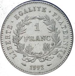 მონეტა > 1ფრანკი, 1992 - საფრანგეთი  (200th Anniversary - French Republic) - reverse