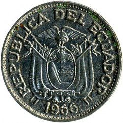 Pièce > 20centavos, 1959-1972 - Équateur  - reverse