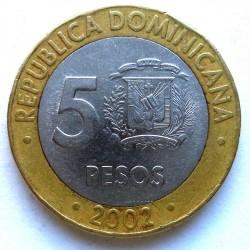 Minca > 5pesos, 2002-2016 - Dominikánska republika  - reverse