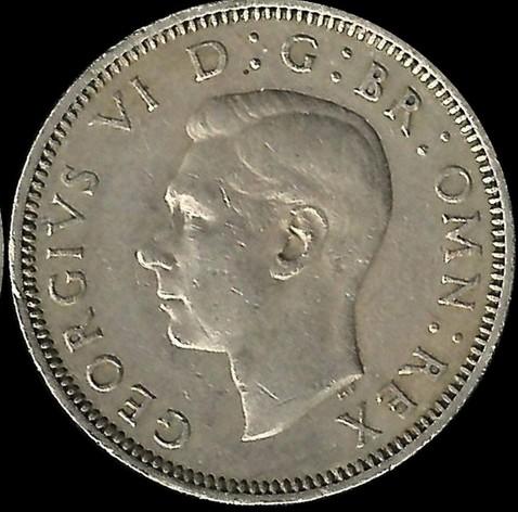 1 shilling 1949-1951 - English crest /standing lion/, United Kingdom