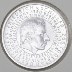 Moeda > 10euro, 2005 - Alemanha  (Bicentenário do Falecimento do Escritor Friedrich von Schiller) - obverse