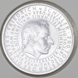 Moeda > 10euro, 2005 - Alemanha  (Bicentenário do Falecimento do Escritor Friedrich von Schiller) - reverse