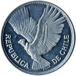 Coin > 5pesos, 1956 - Chile  - reverse