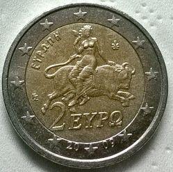 錢幣 > 2歐元, 2007-2017 - 希臘  - obverse