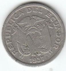 سکه > 20سنتاوو, 1937 - اکوادور  - obverse