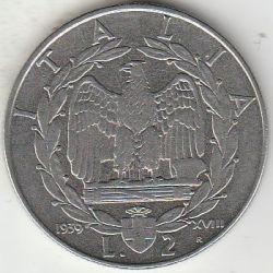 Moneda > 2liras, 1939-1940 - Italia  - reverse
