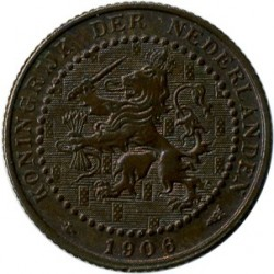 Moneta > 1centesimo, 1902-1907 - Paesi Bassi  - reverse