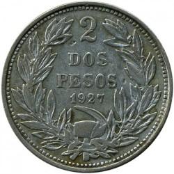מטבע > 2פסו, 1927 - צ'ילה  - reverse