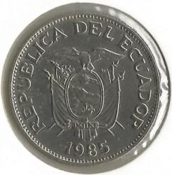 Pièce > 50centavos, 1985 - Équateur  - obverse