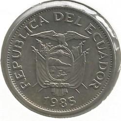 錢幣 > 1蘇克雷, 1985 - 厄瓜多  - obverse
