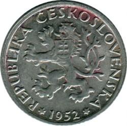 Νόμισμα > 1Κορούνα(Κορώνα), 1947-1953 - Τσεχοσλοβακία  - obverse