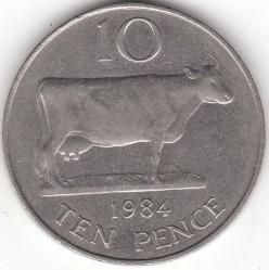 Moeda > 10pence, 1977-1984 - Guernsey  - reverse