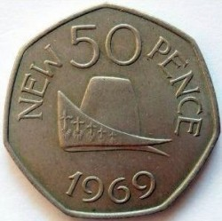 Münze > 50NewPence, 1969-1971 - Guernsey  - reverse