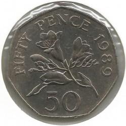 Moeda > 50pence, 1989 - Guernsey  - reverse