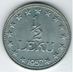 Moneda > ½lek, 1947-1957 - Albània  - obverse