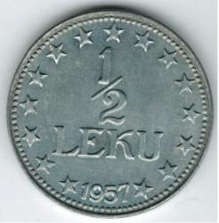 Moneda > ½lek, 1947-1957 - Albània  - reverse