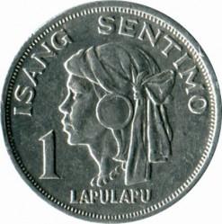 Moneta > 1sentimo, 1967-1974 - Filippine  - reverse