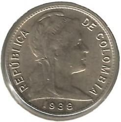 Coin > 1centavo, 1918-1948 - Colombia  - obverse
