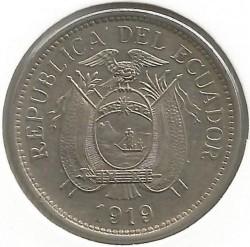 Pièce > 10centavos, 1919 - Équateur  - obverse