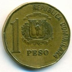 Coin > 1peso, 1992-2008 - Dominican Republic  - reverse