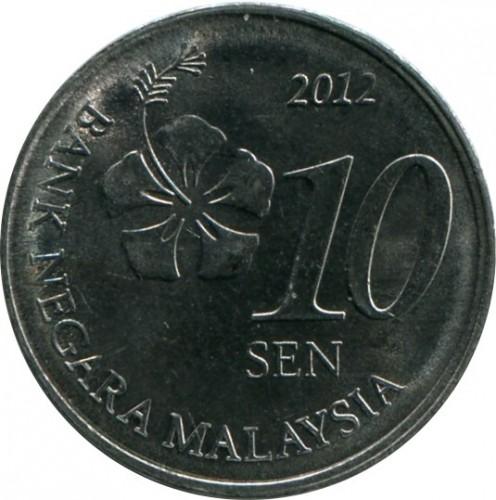 10 sen 2011-2019, Malaysia - Coin value - uCoin net