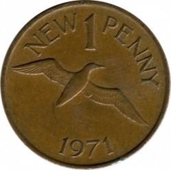 Moneta > 1naujasispensas, 1971 - Gernsis  - reverse