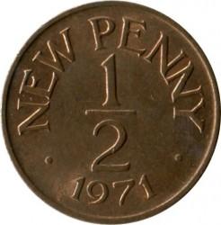 Coin > ½newpenny, 1971 - Guernsey  - reverse