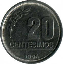 Moneta > 20sentesimų, 1994 - Urugvajus  - obverse