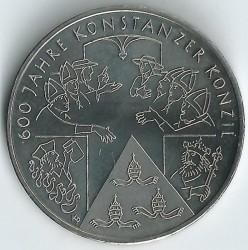Moeda > 10euro, 2014 - Alemanha  (600 Anos do Concílio de Constança ) - reverse