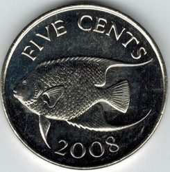 Moeda > 5cêntimos, 1999-2009 - Bermudas  - obverse