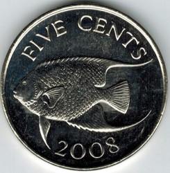 Moeda > 5cêntimos, 1999-2009 - Bermudas  - reverse