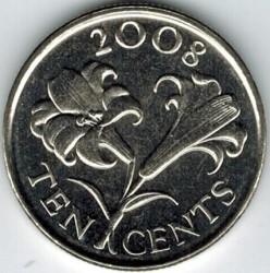Moeda > 10cêntimos, 1999-2009 - Bermudas  - reverse