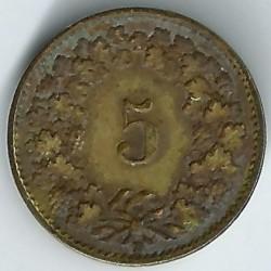 العملة > 5رابن, 1918 - سويسرا  - reverse