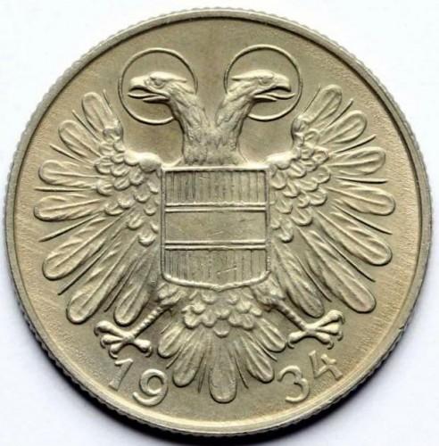1 Schilling 1934 1935 österreich Münzen Wert Ucoinnet