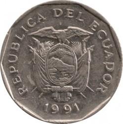 Moneta > 10sukrių, 1988-1991 - Ekvadoras  - obverse