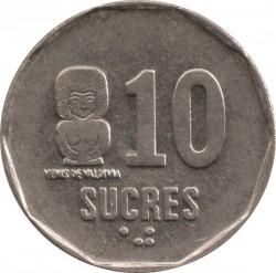 Moneta > 10sukrių, 1988-1991 - Ekvadoras  - reverse