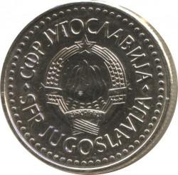 Moneta > 5dinarów, 1990-1992 - Jugosławia  - obverse