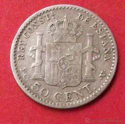 Монета > 50сентимо, 1904 - Испания  - reverse