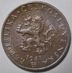 Münze > 20Heller, 1947-1950 - Tschechoslowakei  - obverse