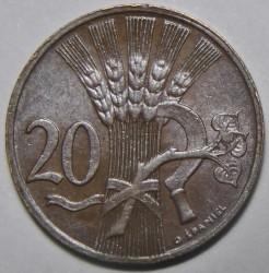Münze > 20Heller, 1947-1950 - Tschechoslowakei  - reverse
