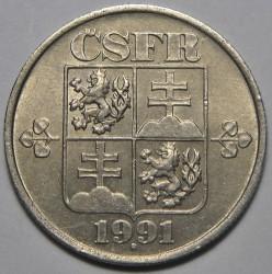 Moneta > 50halerzy, 1991-1992 - Czechosłowacja  - obverse