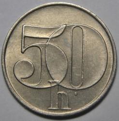 Moneta > 50halerzy, 1991-1992 - Czechosłowacja  - reverse