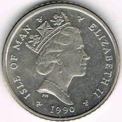 Moneta > 5pence, 1990-1993 - Isola di Man  - obverse