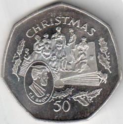 Moneta > 50pence, 1997 - Isola di Man  (Natale) - reverse
