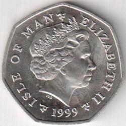 Pièce > 50pence, 1999 - Île de Man  (Noël) - obverse