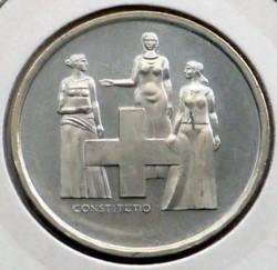 Монета > 5франков, 1974 - Швейцария  (100 лет Конституции) - obverse
