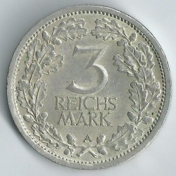 Moneda > 3reichsmark, 1931-1933 - Alemania  - reverse